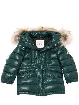 RIVIERE NYLON DOWN COAT W/ FUR TRIM