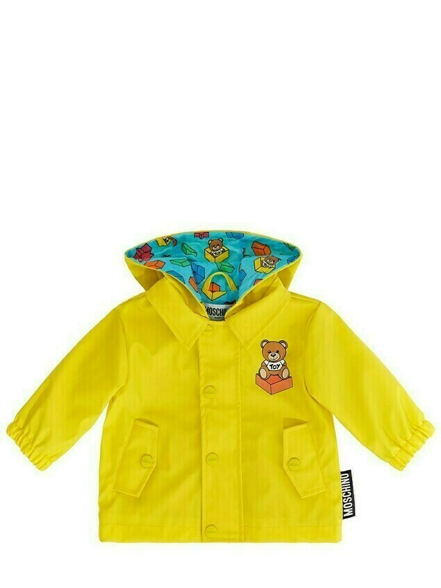 Toy Print Hooded Nylon Jacket