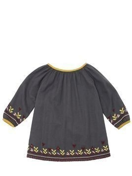 EMBROIDERED COTTON FLANNEL DRESS