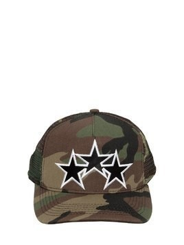 STAR EMBROIDERED TRUCKER HAT
