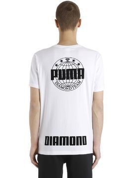 DIAMOND SUPPLY COTTON JERSEY T-SHIRT