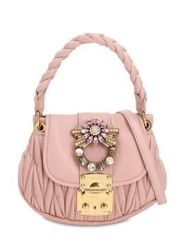 MINI COFFRE CRYSTAL BUCKLE LEATHER BAG