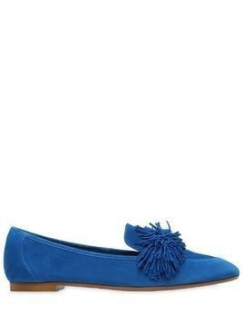 10MM WILD FRINGED SUEDE LOAFERS