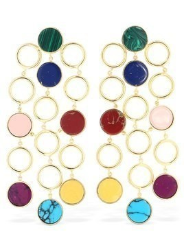 TRIBAL MULTICOLORED DROP EARRINGS