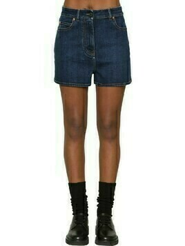 Vlogo Cotton Blend Denim Shorts