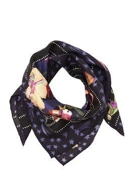 HOLLYWOOD PRINTED SILK SATIN SCARF