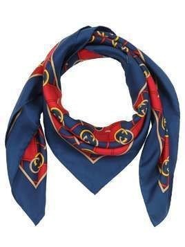 GG WAVES PRINTED SILK SCARF