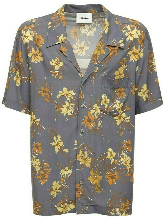Printed Viscose Bowling Shirt
