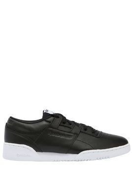 WORKOUT LOW CLEAN ID LEATHER SNEAKERS