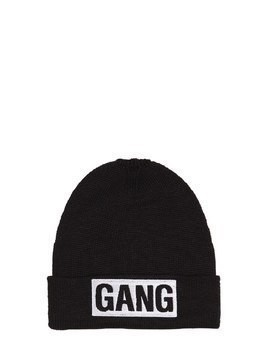 GANG EMBROIDERED WOOL BLEND BEANIE HAT
