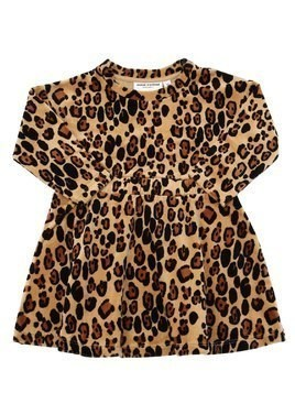 LEOPARD PRINT CHENILLE DRESS