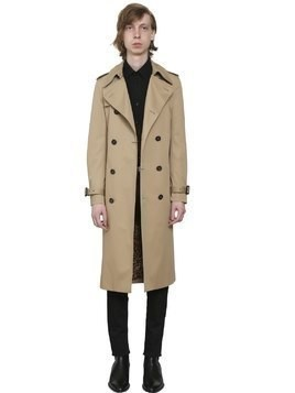 COTTON BLEND GABARDINE TRENCH COAT