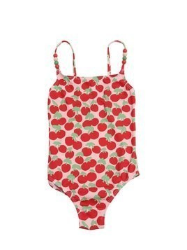 CHERRY PRINTED LYCRA ONE PIECE SWIMSUIT