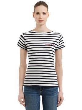 CRAZY IN LOVE STRIPED JERSEY T-SHIRT