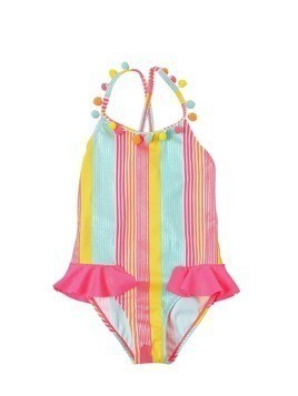 STRIPED LYCRA ONE PIECE SWIMSUIT