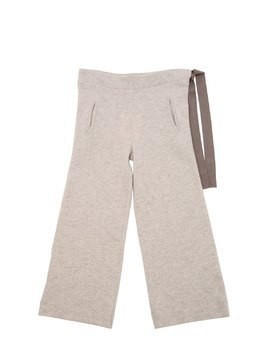 WOOL KNIT PANTS W/ DRAWSTRING