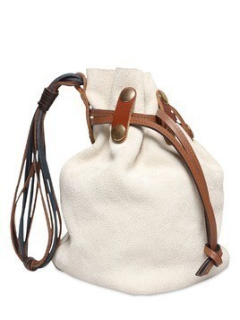 BINDLE BUCKET SUEDE BAG