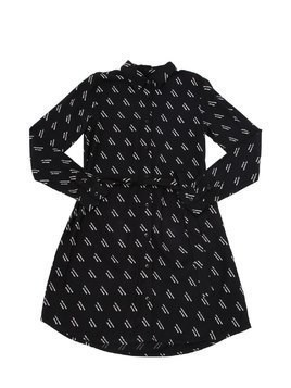 LOGO PRINTED VISCOSE SHIRT DRESS
