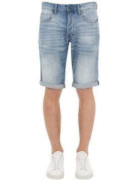 3301 SLIM LIGHT INDIGO DENIM SHORTS