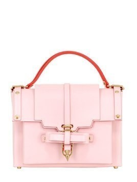 MEDIUM BOW BUCKLE LEATHER TOP HANDLE BAG