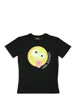 Emoji Print Cotton Jersey T-shirt