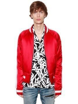 REVERSIBLE SILK STAIN BOMBER JACKET