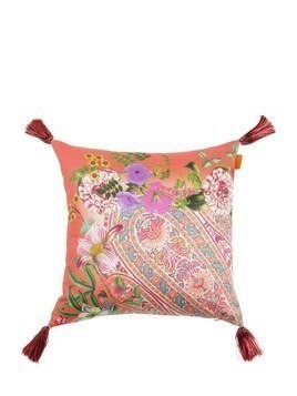 CAMLLEIA PRINTED COTTON PILLOW