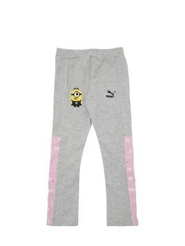 MINIONS PRINT COTTON INTERLOCK LEGGINGS