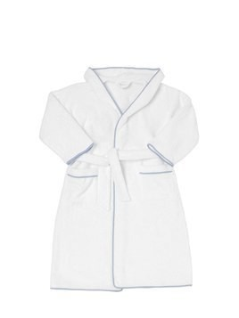 CROWN EMBROIDERED TERRYCLOTH BATHROBE