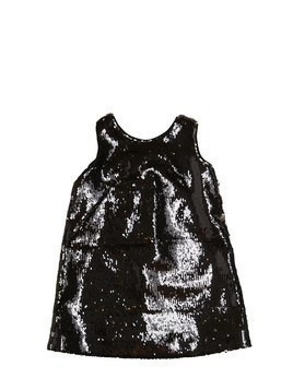 SEQUINED CREPE PARTY DRESS