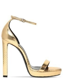 115MM HALL SNAKESKIN SANDALS