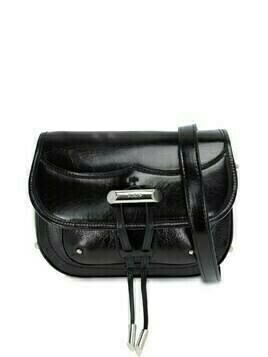 Cracle Leather Shoulder Bag