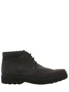 SUEDE LEATHER LACE-UP BOOTS
