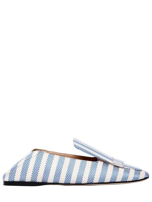 10MM SR1 STRIPED COTTON LOAFERS