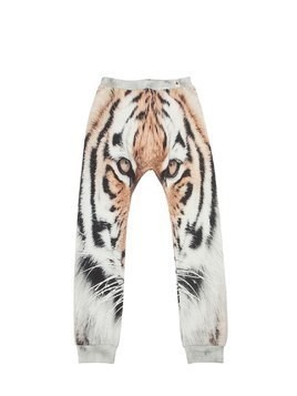 TIGER PRINT ORGANIC COTTON SWEATPANTS