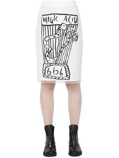 MAGIC ACID PRINTED MESH SKIRT