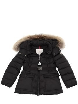 GENET NYLON W/ FUR DOWN COAT