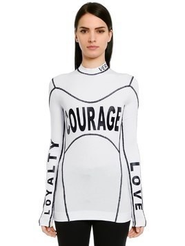 COURAGE PRINTED STRETCH JERSEY T-SHIRT