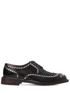 20MM ROELOC STUDDED LEATHER DERBY SHOES