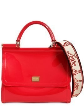 SICILY FAUX PATENT LEATHER BAG