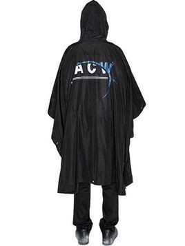 HOODED PRINTED NYLON PONCHO