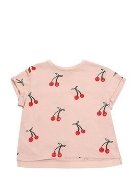 CHERRY PRINTED COTTON JERSEY T-SHIRT