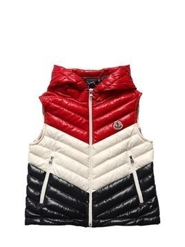 HARIKI HOODED NYLON & DOWN VEST