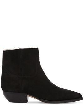 30MM THEO RAW CUT SUEDE ANKLE BOOTS