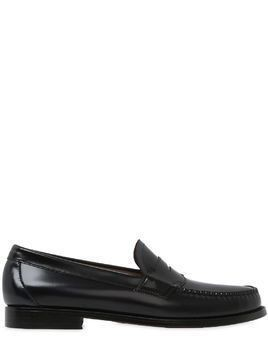 WEEJUN LOGAN 2 TONE LEATHER PENNY LOAFER