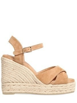 100MM BLAWDELL SUEDE WEDGE SANDALS