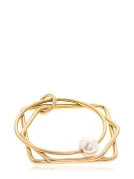 3 FORME RING W/ PEARL