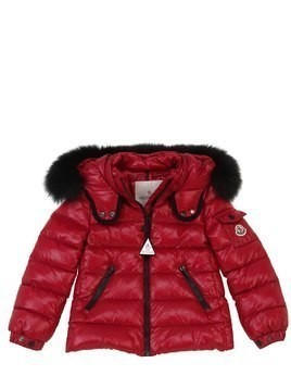 BADY NYLON DOWN JACKET W/ FOX FUR