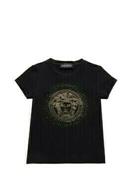 Embellished Medusa Cotton Jersey T-shirt