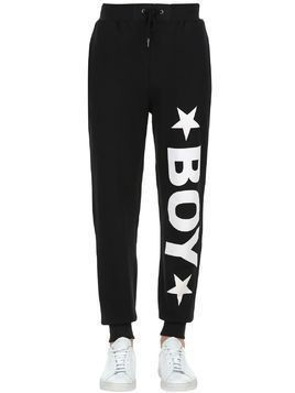 BOY PRINTED COTTON SWEATPANTS